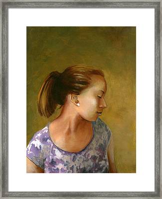 Tessa Framed Print by Mary C Haneline