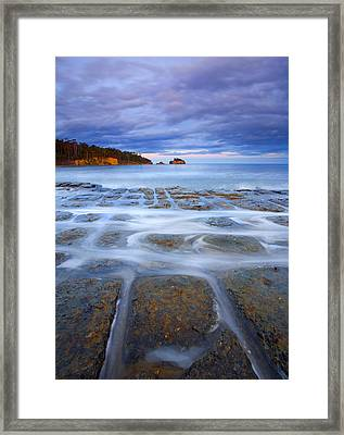 Tesselated Sunset Framed Print by Mike  Dawson