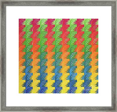 Tessellation Framed Print by Jacqueline Phillips-Weatherly