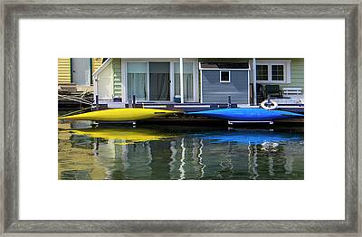 Marina Living In Victoria British Columbia 2to1 Framed Print by Ben and Raisa Gertsberg