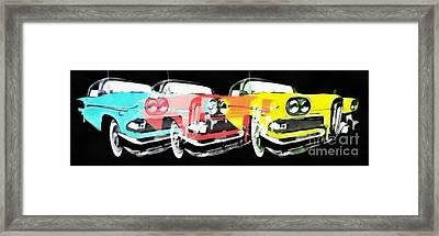 Edsel Triple Threat Pop Art Framed Print