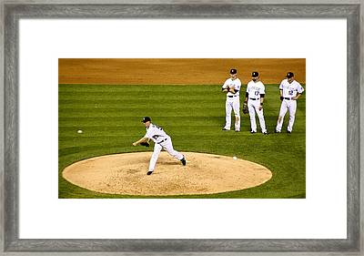 Test Toss Framed Print by Marilyn Hunt