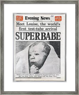 Test-tube Baby, 1978 Framed Print by Granger