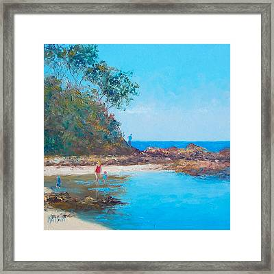 Testing The Water Framed Print by Jan Matson