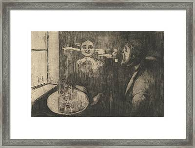 Tete-a-tete Framed Print by Edvard Munch
