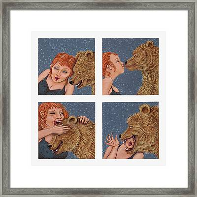 Tete A Tete Framed Print by Holly Wood