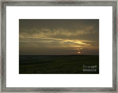 Teterville Sunset Framed Print by Fred Lassmann