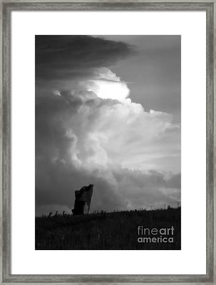 Teterville Thunderstorm Framed Print by Fred Lassmann