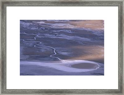 Tethered Comet - Badwater Basin Framed Print