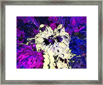 Tethered In Space Framed Print