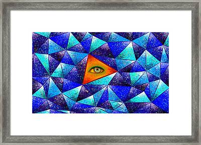 Tethrous V1 - Watching Triangle Framed Print by Cersatti