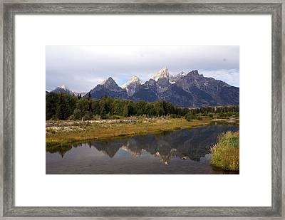 Teton 7 Framed Print by Marty Koch