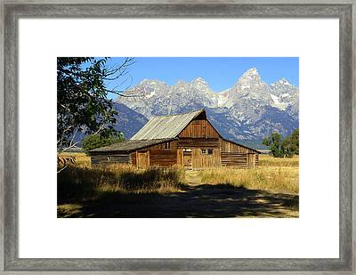 Teton Barn 4 Framed Print by Marty Koch