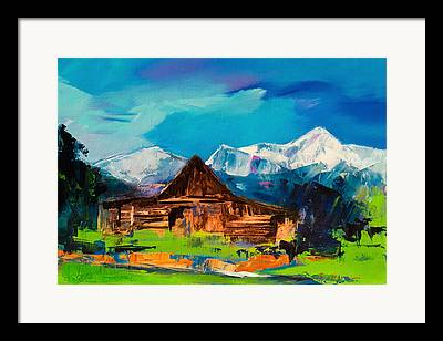 Yellowstone Paintings Framed Prints