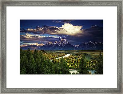 Teton Cloudburst Framed Print by Andrew Soundarajan