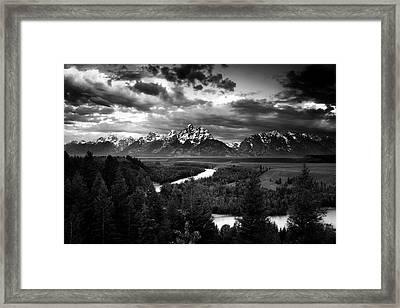 Teton Drama Framed Print by Andrew Soundarajan