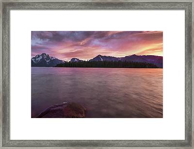 Teton Firesky II Framed Print