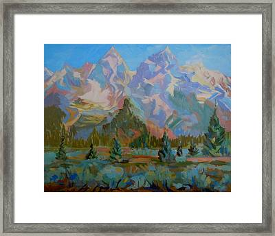 Teton Heaven Framed Print