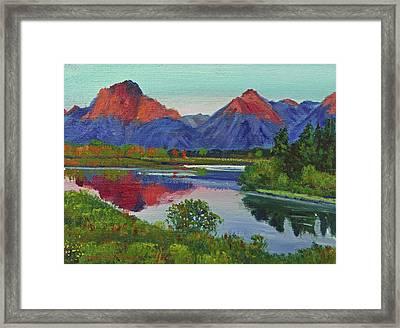 Teton Lake Framed Print