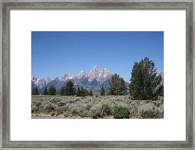 Teton Majesty Framed Print by Gregory Jeffries