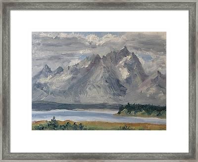 Teton Morn Framed Print by Zanobia Shalks
