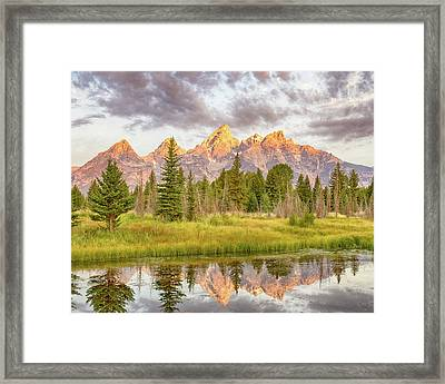 Framed Print featuring the photograph Teton Morning by Mary Hone