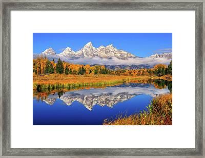 Teton Morning Mirror Framed Print by Greg Norrell