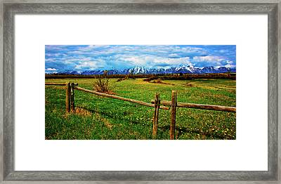 Framed Print featuring the photograph Teton Park Spring by Norman Hall