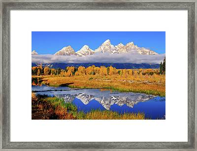 Teton Peaks Reflections Framed Print