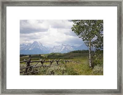 Teton Ranch Framed Print