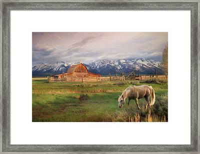 Teton Ranch Framed Print by Lori Deiter