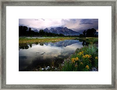 Teton Reflections Framed Print by Eric Foltz