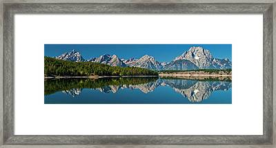 Framed Print featuring the photograph Teton Reflections by Gary Lengyel