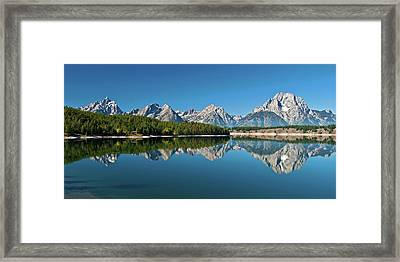 Framed Print featuring the photograph Teton Reflections II by Gary Lengyel