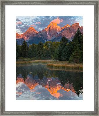 Teton Reflections Framed Print by Joseph Rossbach