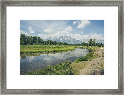 Teton Reflections Framed Print
