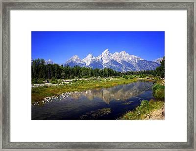 Teton Reflections Framed Print by Marty Koch
