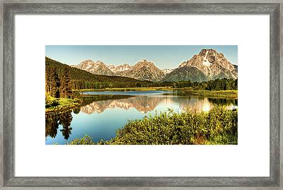 Framed Print featuring the photograph Teton Reflections by Rebecca Hiatt
