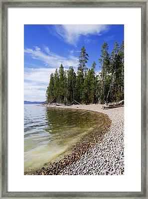 Teton Shore Framed Print by Chad Dutson
