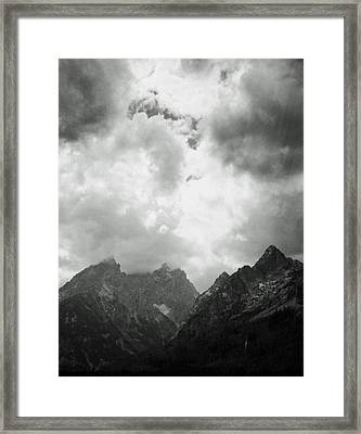 Framed Print featuring the photograph Teton Sky by Allan McConnell