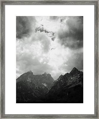 Teton Sky Framed Print by Allan McConnell