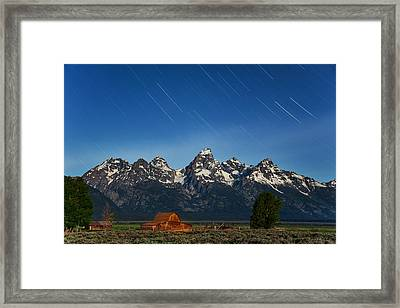 Teton Star Trails Framed Print