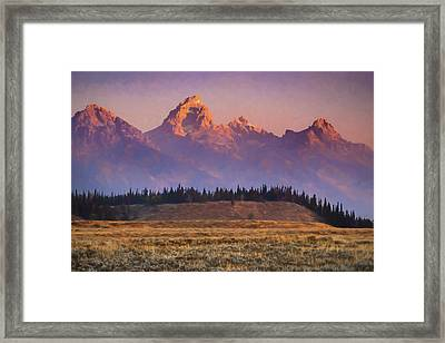 Teton Sunrise Framed Print