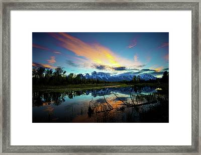 Framed Print featuring the photograph Teton Sunset by Norman Hall