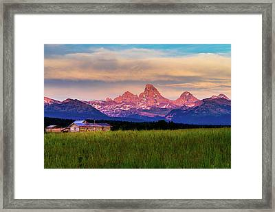 Teton Valley Sunset Framed Print by TL  Mair