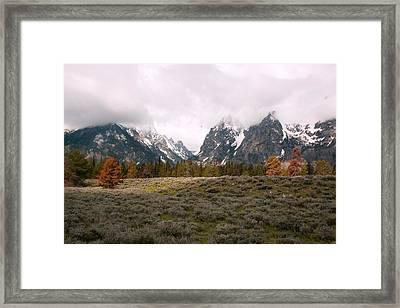 Tetons Framed Print by Amanda Kiplinger