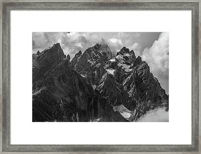 Framed Print featuring the photograph Tetons by Chuck Jason