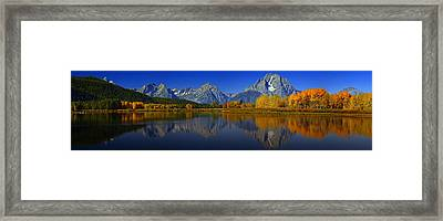 Tetons From Oxbow Bend Framed Print by Raymond Salani III