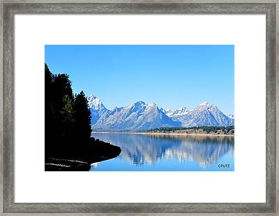 Tetons Reflection Framed Print by Carrie Putz