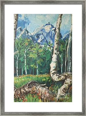 Tetons Framed Print by Susan Brown    Slizys art signature name